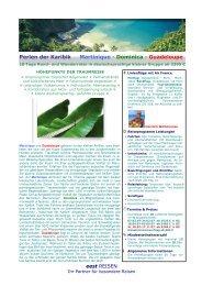 Perlen der Karibik Martinique - Dominica ... - World Travel Net
