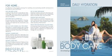 BODY CARE - Pevonia