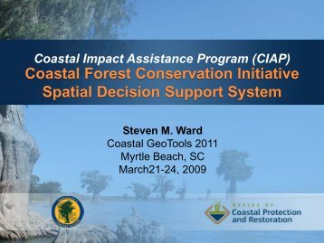 Coastal Forest Conservation Initiative - Coastal GeoTools