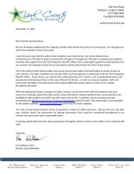 School Safety Letter & Parent Tips - York County Schools