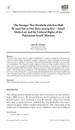 Israeli Media Law and the Cultural Rights of
