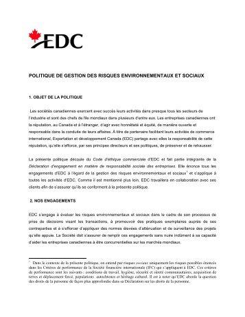 gestion des risques environnementaux pdf
