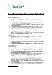 40 Facts about the National Animal Welfare Trust - Petplan