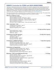 ROBOTC Curriculum for TETRIX and LEGO MINDSTORMS - Teacher