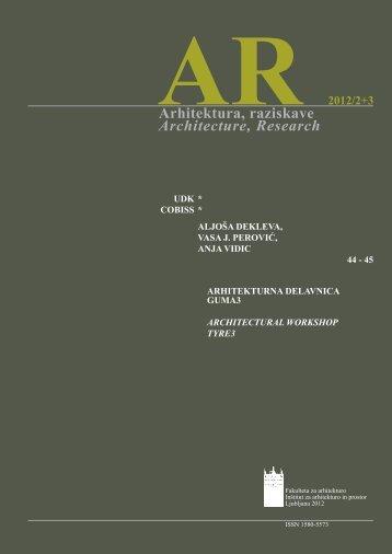GUmA3, 2012 - Fakulteta za arhitekturo
