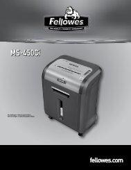 MS-450Ci Bedienungsanleitung - Fellowes