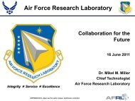AFRL, Collaboration for the Future - IDCast