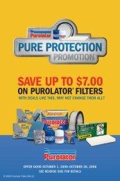 Save up to $7.00 - Purolator