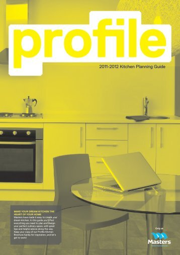 2011-2012 Kitchen Planning Guide - Masters