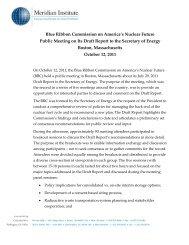 Boston - Blue Ribbon Commission on America's Nuclear Future