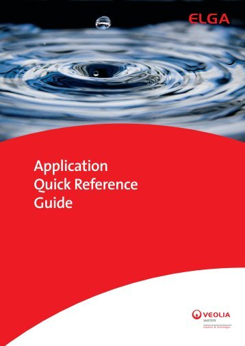 Application Quick Reference Guide