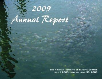 PDF: 2008-2009 VIMS Annual Report - Virginia Institute of Marine ...