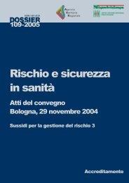 Rischio e sicurezza in sanità - Agenzia sanitaria regionale Emilia ...