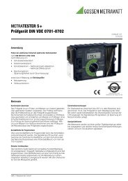 METRATESTER 5+ Prüfgerät DIN VDE 0701-0702 - produktinfo ...