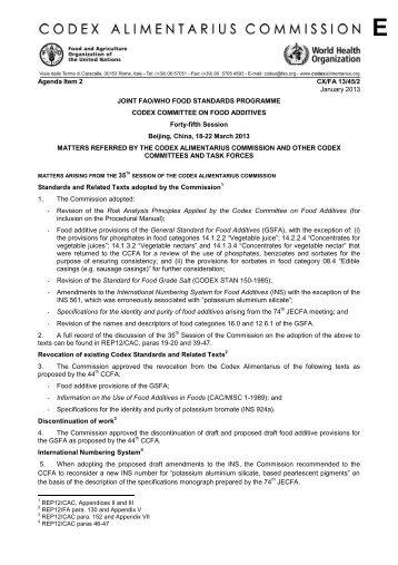 CX/FA 13/45/2 - FAO.org