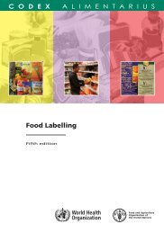 Food Labelling - FAO.org