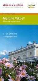 Brochure Merano Vitae 2013 - Tourismusbüro Tisens Prissian