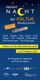 Erleben Sie die Kulturstadt Remscheid am 27. Oktober ... - RP Online