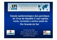 Estudo epidemiológico dos genótipos do Vírus da ... - Epi2008
