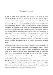 TRADING SYSTEM E ANALISI TECNICA - Dimensionetrading.com