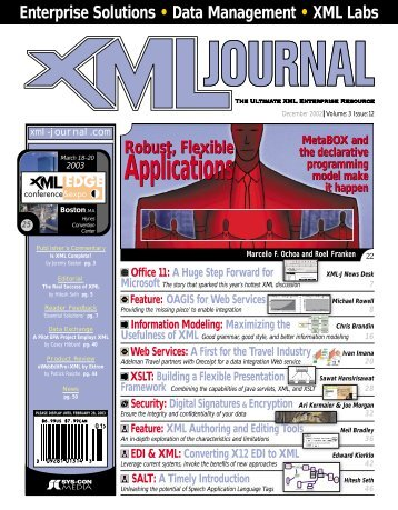 Applications Applications - sys-con.com's archive of magazines ...