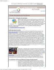 mars 2012 - Organisation internationale de la Francophonie