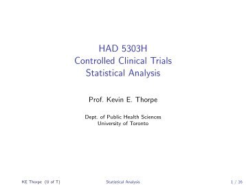 HAD 5303H Controlled Clinical Trials Statistical Analysis