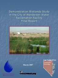 Demonstration Wetland Study, 2007 - Las Vegas Wash ...