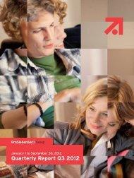 Quarterly Report Q3 2012 - EQS Group AG
