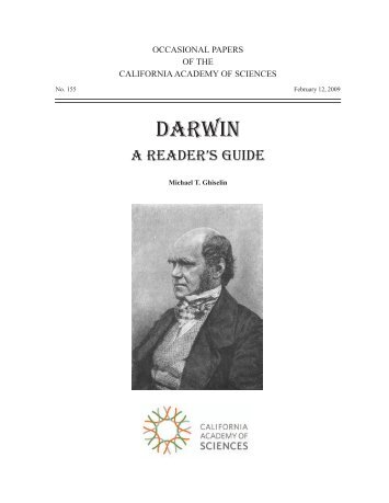 a reader's guide - The Complete Work of Charles Darwin Online
