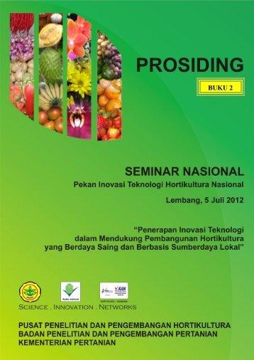 SEMNAS Hortikultura Buku 2 - Departemen Pertanian