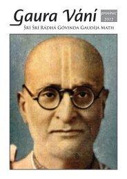 Gaura Vání prosinec 2012 - Sri Sri Radha Govinda Mandir