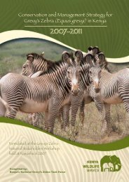 Conservation and Management Strategy for Grevy's Zebra