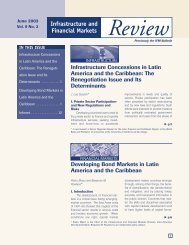 Infrastructure and Financial Markets Review