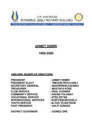 ahmet demi̇r 1999-2000 - Şişli Rotary Kulübü