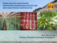 peran kualitas lahan dalam mendukung peningkatan ... - Hortikultura