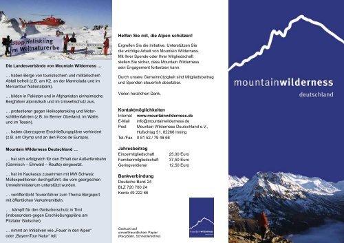 MW Infoflyer - Mountain Wilderness