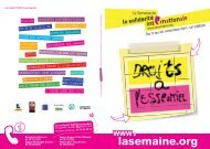 Programme SSI 2011 - La Semaine de la solidarité internationale