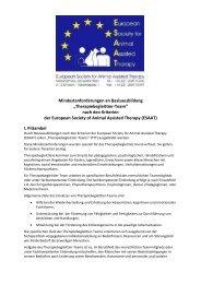 Anforderungen an Basisausbildung NEU nach ESAAT Kriterien …