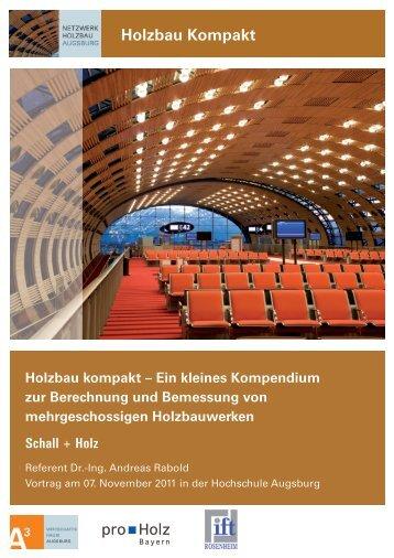 Schall + Holz - Netzwerk Holzbau