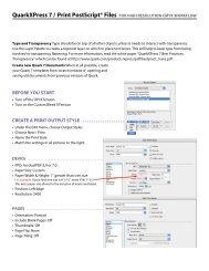 QuarkXPress 7 / Print PostScript® Files FOR HIGH RESOLUTION ...