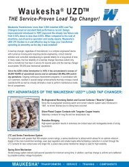 key advantages of the waukesha® uzd™ load tap changer - SPX ...
