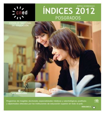 ÍNDICES 2012 - Consejo Nacional de Educación
