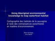 Using Aboriginal environmental knowledge to map waterfowl habitat ...