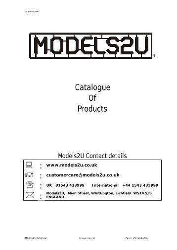 Catalogue Of Products - Models2U