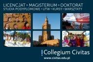 Folder informacyjny do pobrania - plik PDF - Collegium Civitas