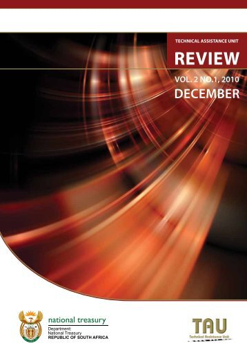 TAU Review Vol. 2 No. 1 December 2010. - National Treasury