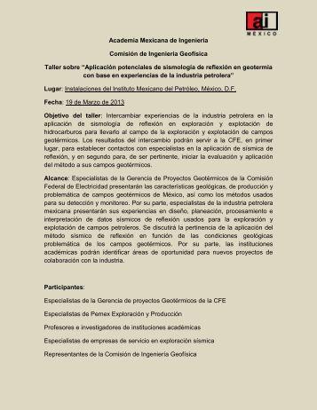 Programa Preliminar - Academia de Ingeniería