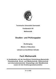 und Prüfungsplan - Technische Universität Darmstadt