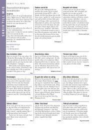 S K R I V  T I L L  M I G - Välkommen till Reumatikertidningens arkiv
